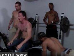 Impromptu gay gang bang Chris met the Bukkake Boys and he's definitely