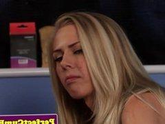 Blonde girl pov blowjob