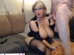 German blond BBW MILF in stockings and b - Pussy from BBW-CDATE.COM