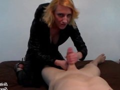 Pov handjob and blowjob then cum p. Carolyn from 1fuckdate.com