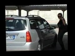 Blowjob in car. Dalila from 1fuckdate.com