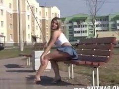 Watch me flash my panties outside my apa - Met her on CHEAT-DATE.COM