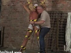 Gay bondage video trailer Blindfolded, gagged, tantalized and flogged,