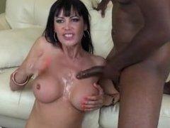 Eva Karera gags on Jack Blaque's long dick
