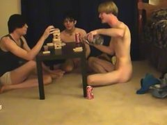 Cute gay boys having oral sex Trace and William get together with their