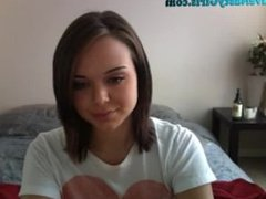 Cute Teen Strips And Masturbates For You