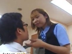 From DOM-MATCH.COM - Japanese OL spitting in guys tea