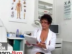 From MILF-MEET.COM - Perverse granny nurse Linda doctor patie