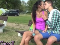Girl teen boys in boxer porn Eveline getting smashed on camping site