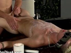 Sexy muscle twink boy gay masturbation videos Splashed With Wax And Cum