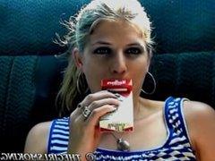 girl smoking cigarette video Marlboro Red 100! - thegirlsmoking