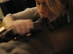 Blonde Wife Cheating & Swallowing Cum From BBC