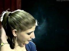 girl smoking talking about smoke history - thegirlsmoking