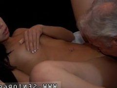 Old man and young chinese guy girl Bruce a sloppy old stud enjoys to poke
