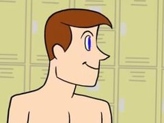 Gay Toon - Twink gets Hunky Coach pt 1