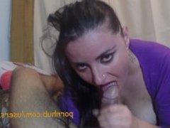 Sucking my husband's cock