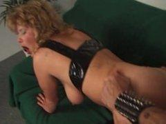 Blonde slut spanked and fucked hard