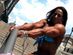 Sarah Hayes fbb female muscle