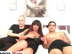 Busty milf gets facial in threesome - Pussy from MILF-MEET.COM