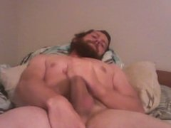 Jack off session. (Now with Cum shot and beard)