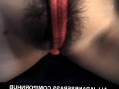 Mina Yamada busty in ropes gets vibrators and cocks in hairy slit