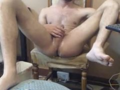Young Guy Self Suck and Deepthroats Big Dick with Cum