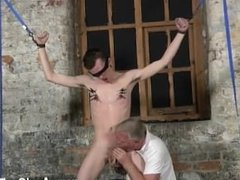 Free gay cum down throat glory hole porn Sean McKenzie is trussed up and