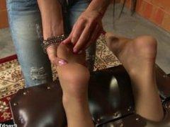Tickled Feet in Nylon