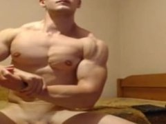 Muscle, cock and ass show