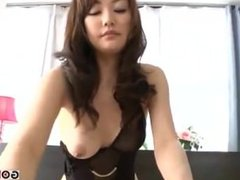 Married woman black lingerie is sexy