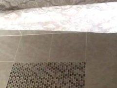 Bubble Butt Ebony Shower scene