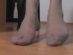 marina pantyhose foot tease
