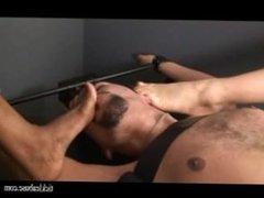tickling male foot worship