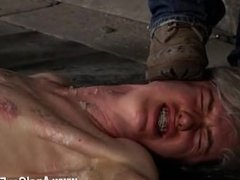 Gay blonde small dick emo porn Chained to the warehouse floor and unable