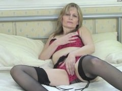Horny milf showing off her rocking. Stephania from 1fuckdate.com