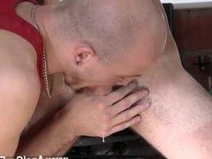 Pictures of gay deep throat blowjobs Kieron Knight enjoys to deepthroat