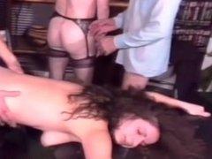Hardcore group sex action