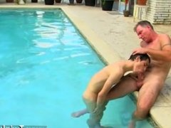 Free hairy gay porn rubbing dick Daddy Brett obliges of course, after