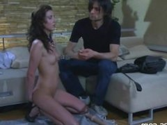 Slim Russian Brunette from Hotrussiababes.net with Long Legs Punished and F