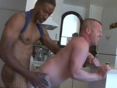 Black Daddy Fucks White Boy