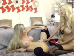 Perfect Blonde Girls Playing With Each Other
