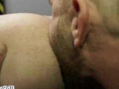 Hot Gay blowjob in the gloryhole goes for anal
