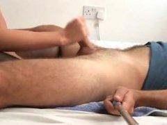 She rams his asshole in various positions