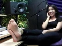 Foot Fetish & Secretary Showing their soles at work