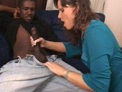 White wife fucks black step son