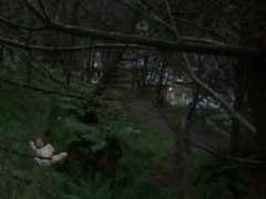 Masturbation in the woods