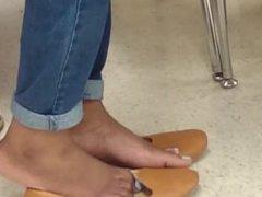 My Friend's Candid Shoeplay in School