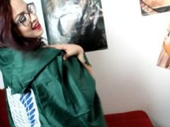 Horny Nerd shows off her Attack on Titan (Shingeki no Kyojin) Cloak