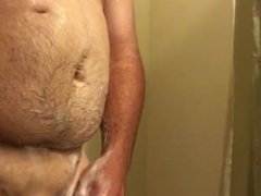 Soapy nuts and dick in the shower