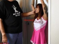 Asia Perez the Ticklish Cheerleader at Ticklingisfun
